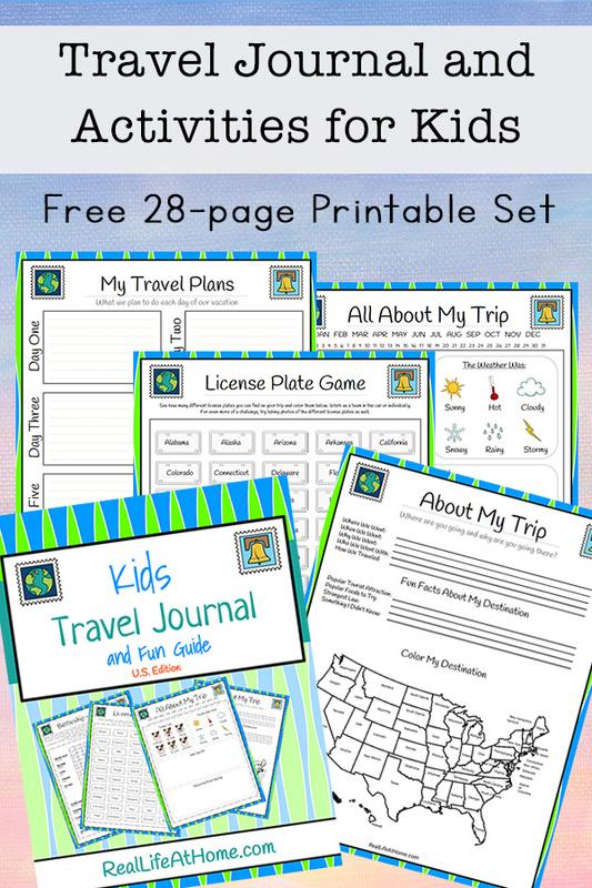 Travel Journal for Kids